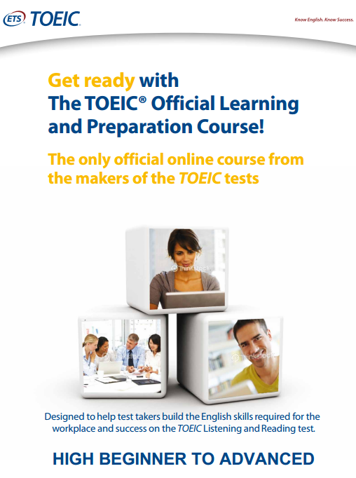 Online Prep Course TOEIC® Official Learning and Preparation Course - High Beginner to Advanced